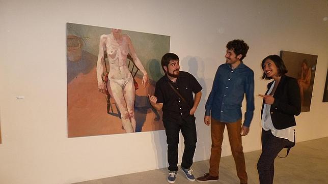 Ganadores del I Concurso de Pintura de Mardel, en la exposición colectiva en Las Cigarreras