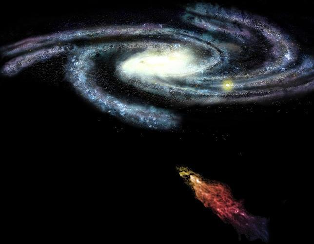 Una gigantesca nube de hidrógeno chocará con nuestra galaxia
