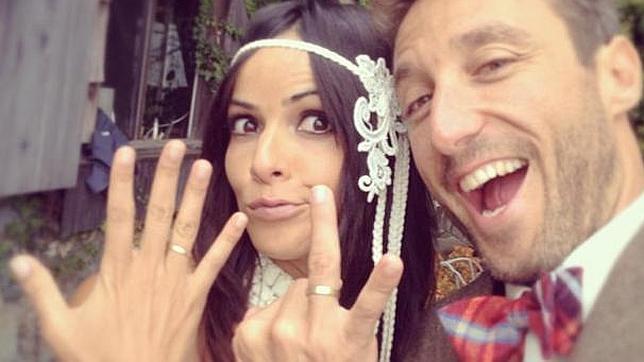 Una captura del Instagram del recién estrenado esposo de Raquel, momentos después del enlace
