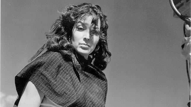 María Félix fotografíada por Juan Rulfo, en una escena de «La escondida»