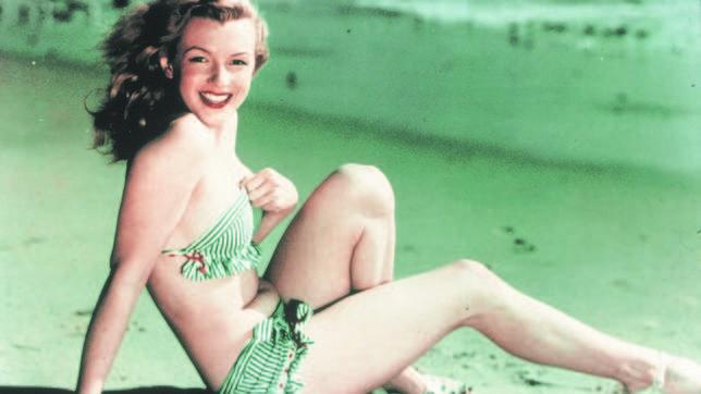 Una jovencísima Marilyn Monroe
