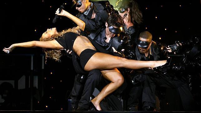 Mariah Carey en uno de sus shows