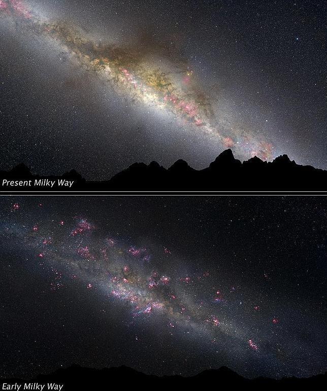 El Hubble revela las primeras imágenes de la formación de la Vía Láctea
