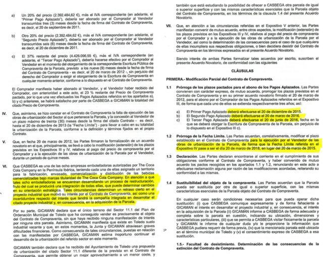El primer documento muestra la incertidumbre en la compra y el segundo la demora de los plazos