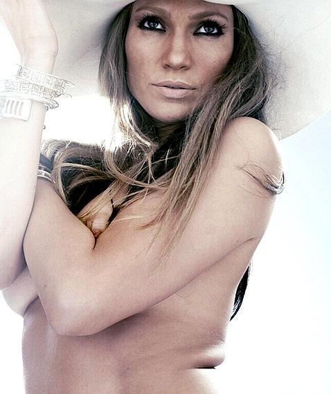 Así es Jennifer López desnuda y sin Photoshop