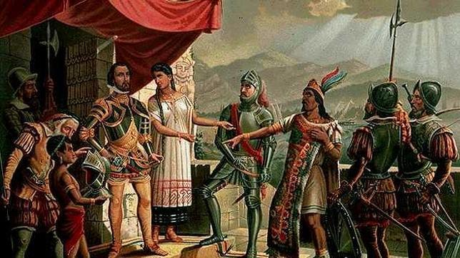 Españoles e incas en Perú