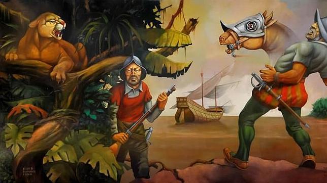 La muerte de Juan Díaz de Solís, primer español que llegó al Río de la Plata