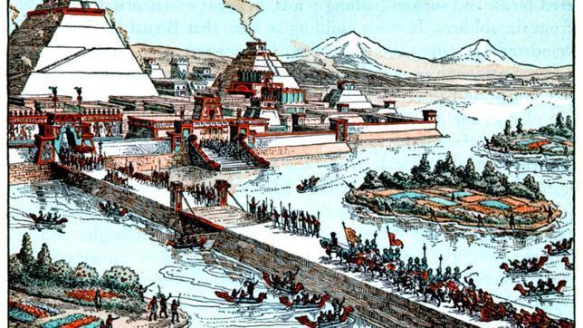 Ilustración de Tenochtitlan