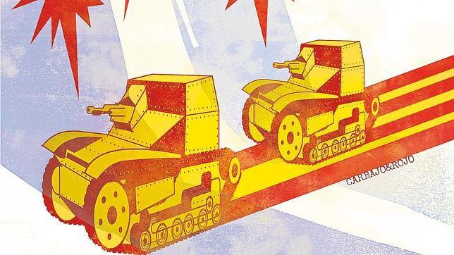 Las tanquetas de los secesionistas