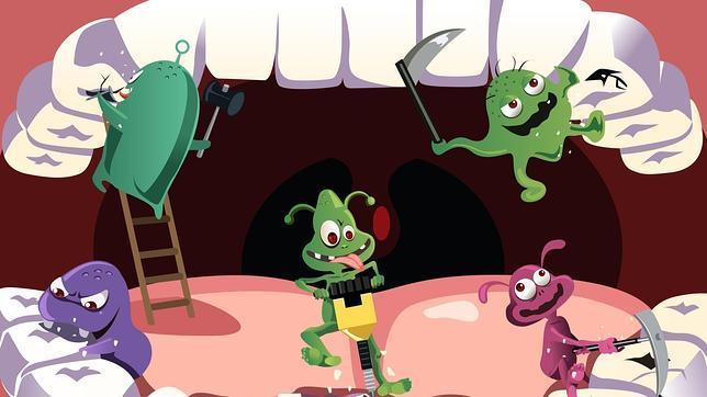 bacterias en las encías clínicas dentalcare Madrid