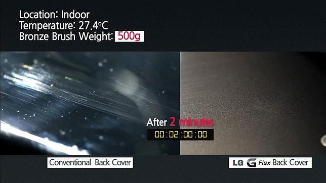 El «móvil autorreparable» LG G Flex llegará a Europa en enero de 2014
