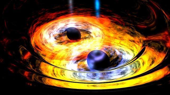Hallan dos agujeros negros entrelazados en un baile cósmico