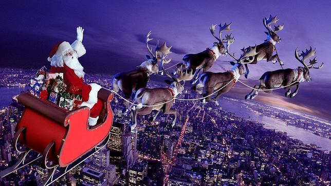 El año que dos cazas escoltarán el trineo de Papá Noel - ABC.es
