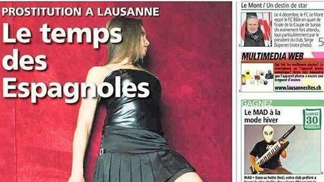 Aumenta la presencia de prostitutas españolas en Suiza