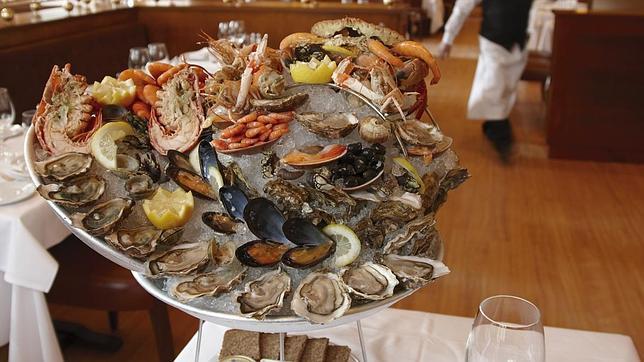 Las ostras son una de las especialidades del restaurante Brasserie Flo