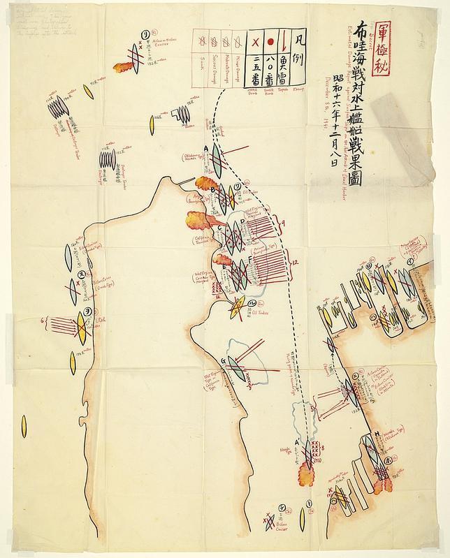 A subasta el mapa de Pearl Harbor del piloto japonés que gritó: Tora ...
