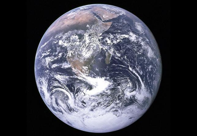 El hemisferio sur del planeta Tierra, fotografiado por la NASA