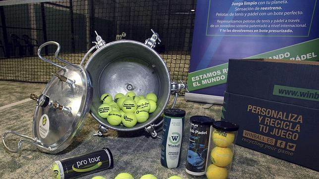 c97a6c016 Dos emprendedores alicantinos lanzan la máquina de reciclar pelotas de tenis
