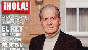Don Juan Carlos, portada de la revista «¡Hola!»