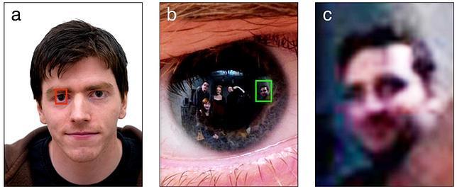 Las imágenes reflejadas en los ojos de un fotografiado pueden recuperarse