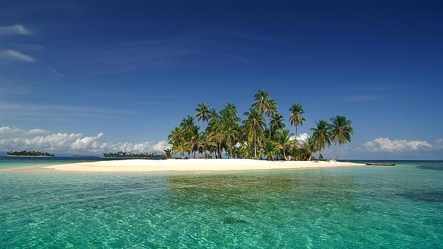 Una de las islas situadas en la comarca Guna Yala