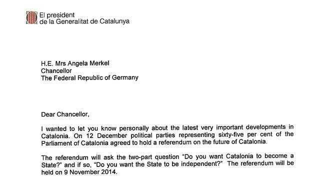 El pobre inglés de Artur Mas en su carta a los líderes mundiales