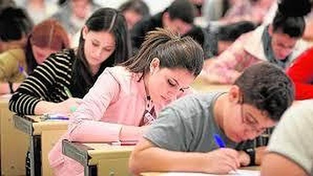 Imagen de archivo del examen de Selectividad en Madrid