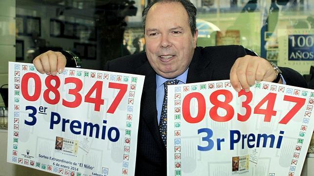 Lotería del Niño 2014: el tercer premio, muy repartido, para el número 08347