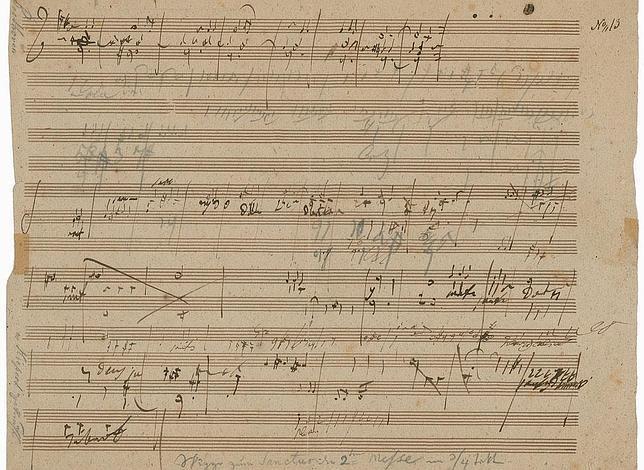 Un raro manuscrito de Beethoven podría superar los 150.000 euros