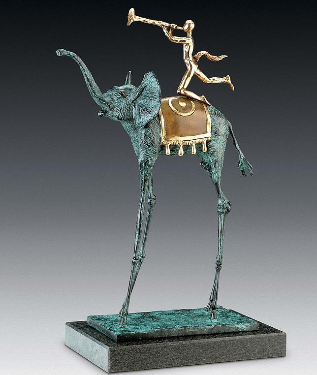 Bonhams subastará en Londres una escultura de un elefante de Dalí