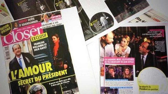 Portada que revela la posible relación entre Hollande y la actriz Julie Gayet
