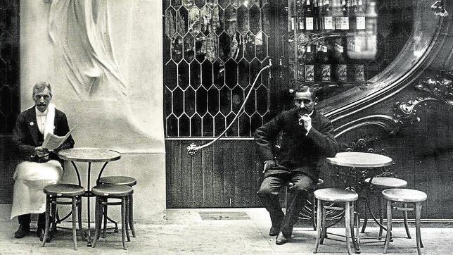 El café Torino, de Paseo de Gracia, en 1905