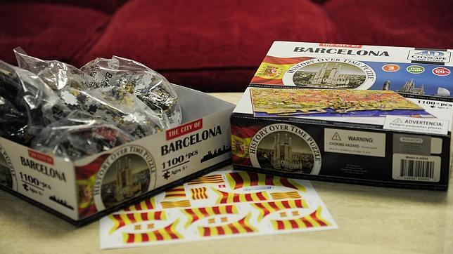 Ofrecen pegatinas para catalanizar un puzzle con la bandera espa ola - La casa del puzzle madrid ...