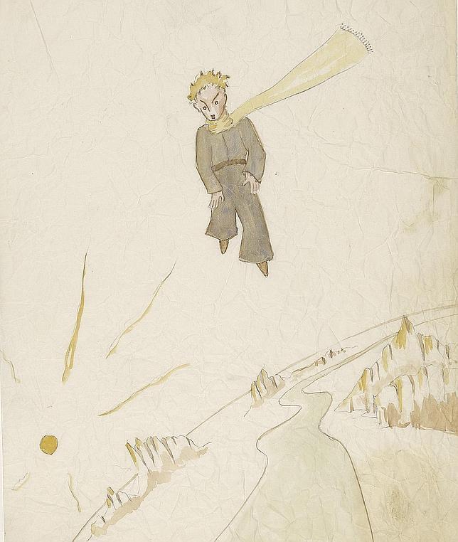 Uno de los dibujos originales para «El Principito»