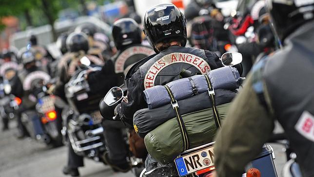 Miembros de la organización de motoristas «Ángeles del Infierno», en una imagen de archivo