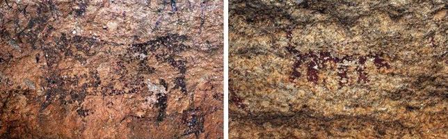 Las pinturas rupestres analizadas