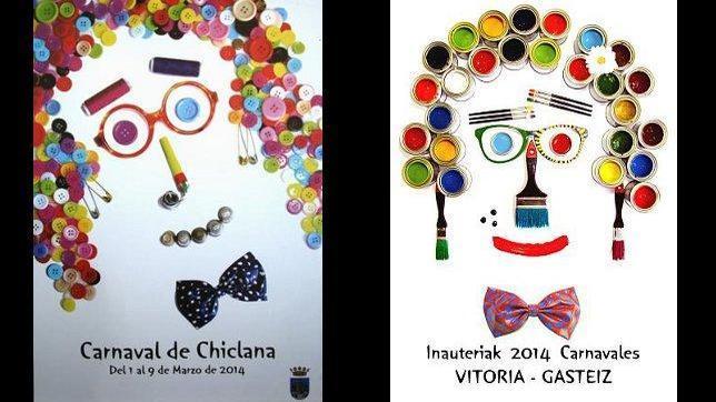 El autor de los carteles de Carnaval de Vitoria y Chiclana: «De polémicas no quiero saber nada»