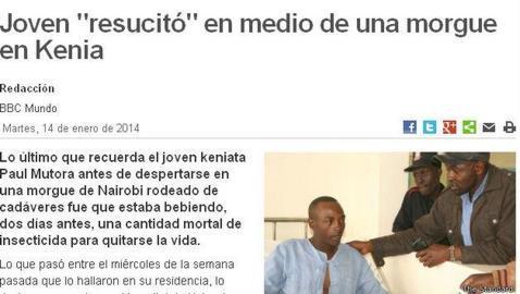 Resucita en la morgue tras ser declarado muerto por ingerir un bote de insecticida