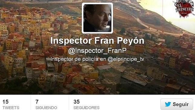 El perfil en Twitter del inspector Fran Peyón, interpretado por José Coronado