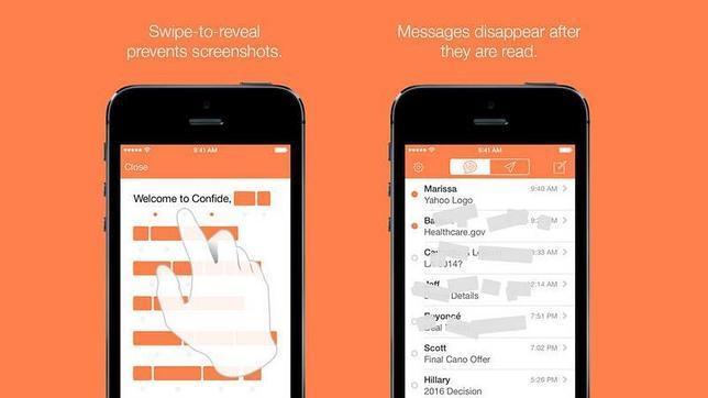 Confide: su mensaje de destruirá en cinco segundos