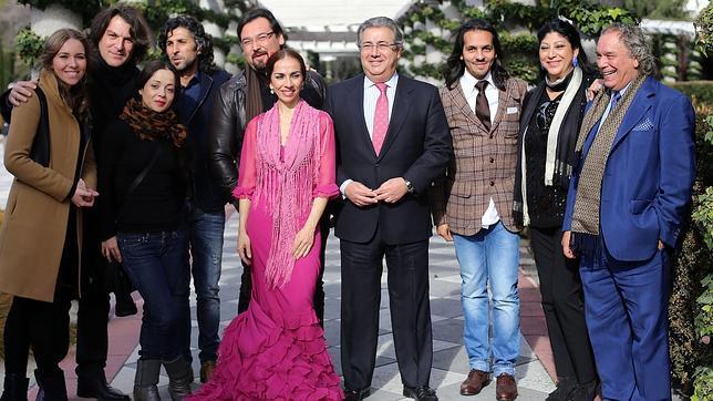 Rocío Marquez, Dorantes, Olga Pericer, Arcángel, José Valencia, Isabel Bayón, Juan Ignacio Zoido, Farruquito, Manuela Carrasco y Joaquín Amador