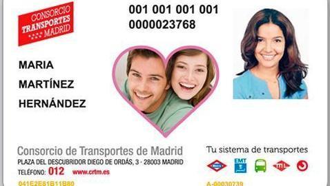 San Valentín «personaliza» la tarjeta de Transportes de Madrid
