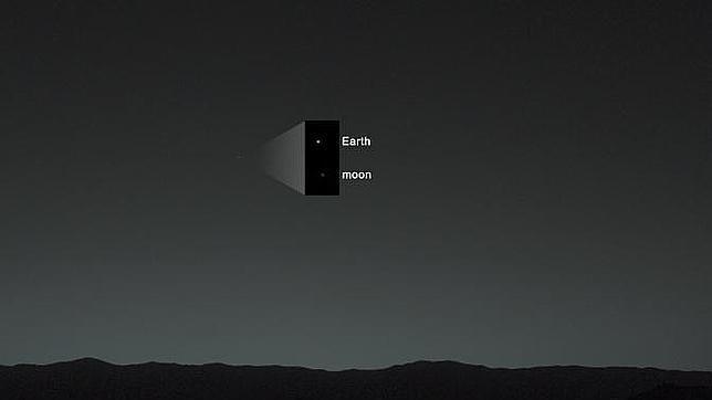 La Tierra, una mota de polvo vista desde Marte