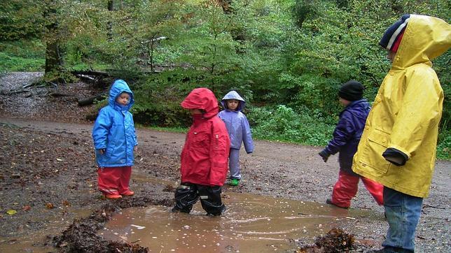 Los niños aprenden el currículo a través de lo que les ofrece la naturaleza