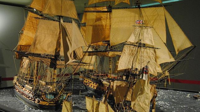 «San Agustín», el navío español abordado en tres ocasiones durante la batalla de Trafalgar