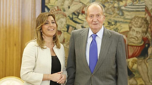 El Rey recibe Susana Díaz por segunda vez desde que es presidenta de Andalucía