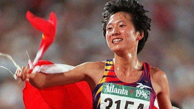 Wang Junxia, campeona de 10.000 en el Mundial de Sttutgart 1993