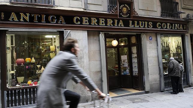 Una de las tiendas antiguas de Barcelona
