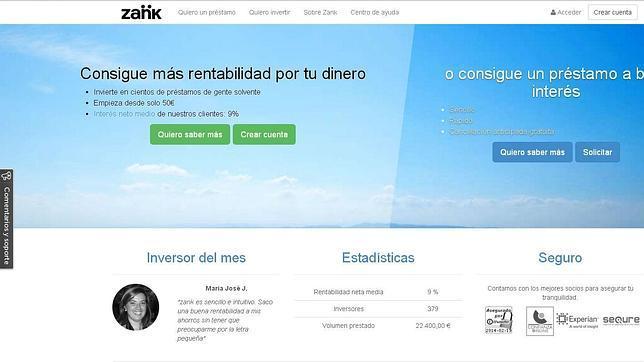Zank, la nueva fórmula de préstamos entre particulares