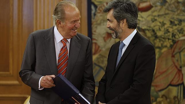 El Rey recibe en Zarzuela las memorias del Tribunal Supremo y del CGPJ
